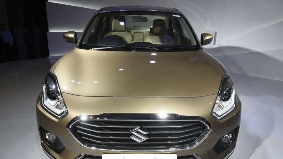 The  new Dzire gets the face of the Swift which will be launched by late 2017 or early 2018. The new car comes equipped with a 7-inch touchscreen display with Android Auto and Apple CarPlay compatibility.  (Saumya Khandelwal/HT PHOTO)