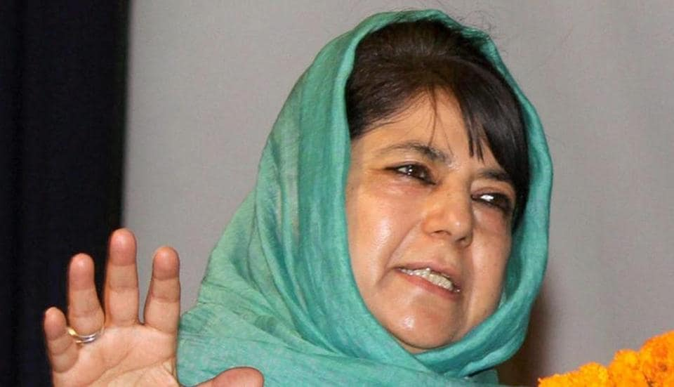 J-K chief minister Mehbooba Mufti faced strong protests from women members of self-help groups who claimed their were tricked into attending an interactive session in Srinagar on Tuesday.