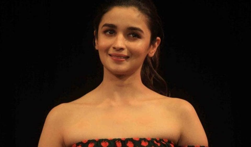 Mumbai: Actress Alia Bhatt during a programme in Mumbai.