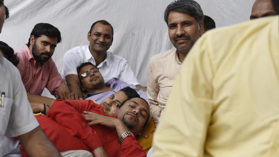 Arvind Kejriwal,Kapil Mishra,Sanjeev Jha