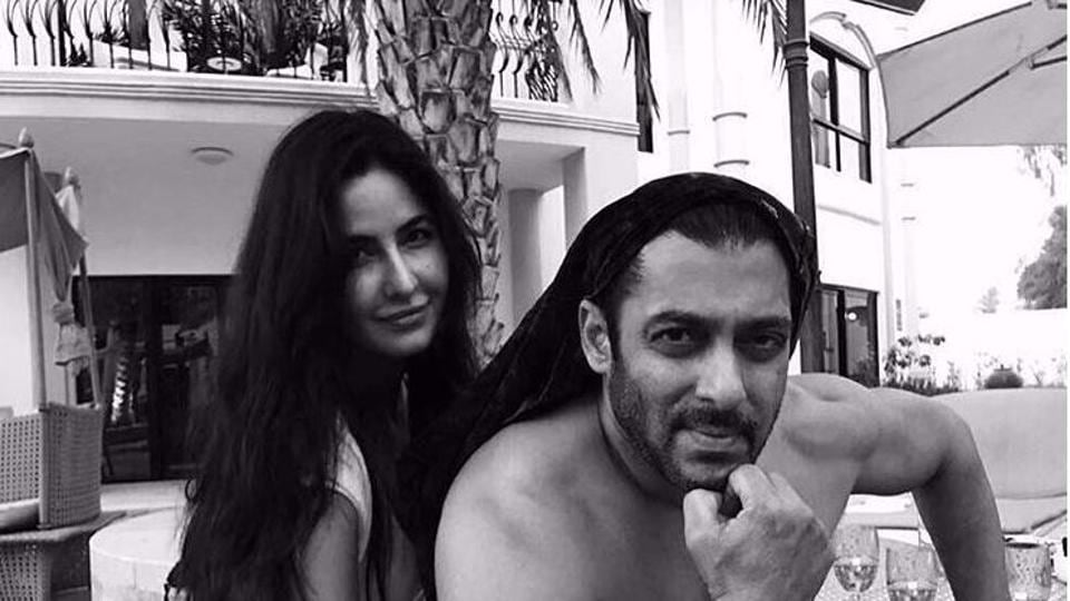 Did Salman Khan pose nude with Katrina Kaif? Well, we can see the shorts!