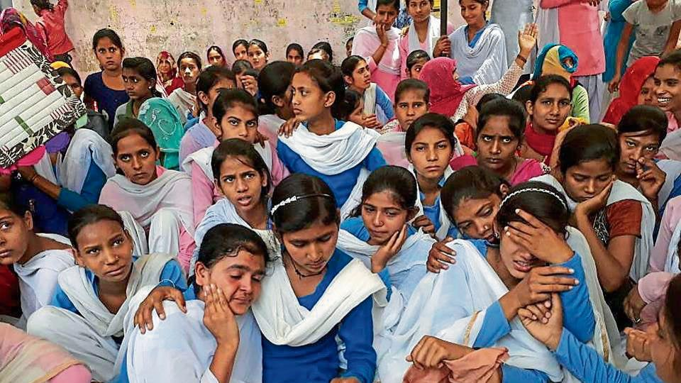 The girl students of Gothera Tappa Dahena village in Rewari's Khol block had stopped going to school and were sitting on a hunger strike since Wednesday, demanding the upgrade of the village high school to senior secondary school.
