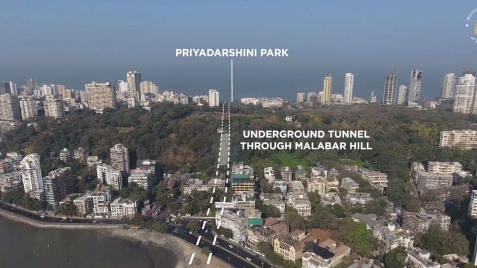 An underground tunnel will go through Malabar Hill.