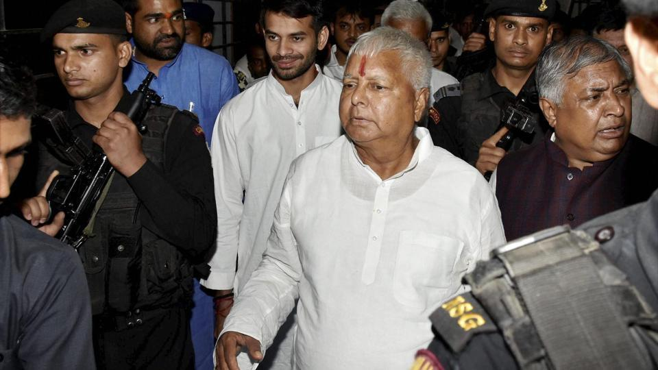 In this file photo, Lalu Prasad can be seen coming out of Indira Gandhi Institute of Medical Sciences in Patna after receiving treatment for minor injuries. The top court's Monday ruling comes as an embarrassment to the politician and will bolster the BJP in Bihar, where Lalu Prasad's RJD is a member of the ruling alliance.