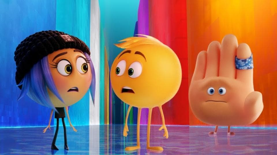 A still from the new The Emoji Movie trailer.