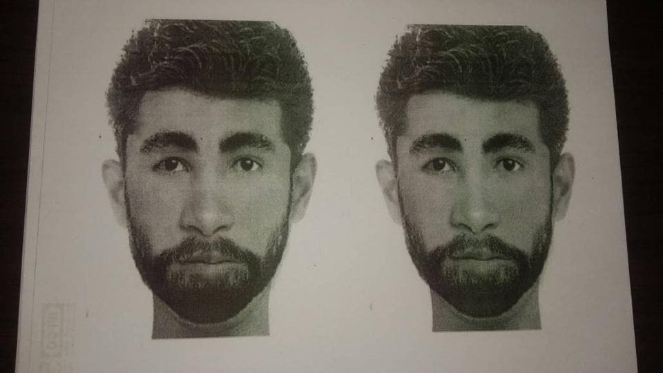 Gurgaon police released a sketch of one of the accused, on Monday after getting details from the victim.