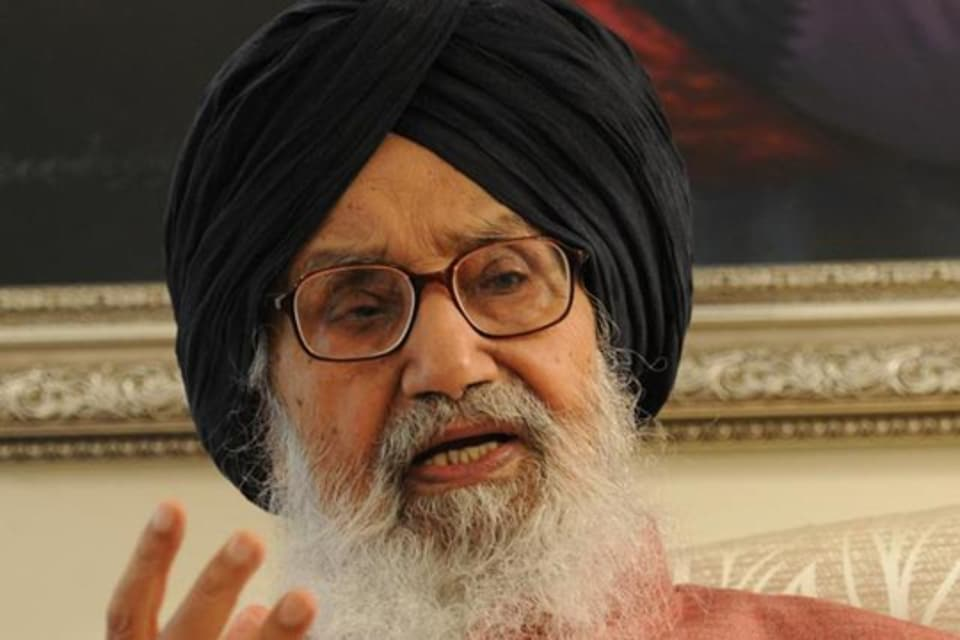 Former Punjab chief minister and Shiromani Akali Dal (SAD) patron Parkash Singh Badal.