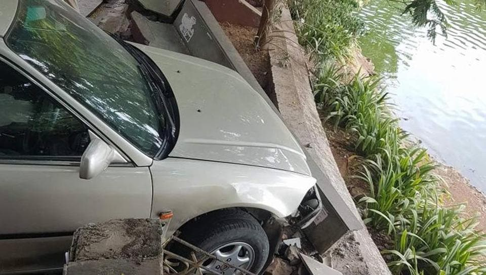 The driver suffered minor injuries in the accident.