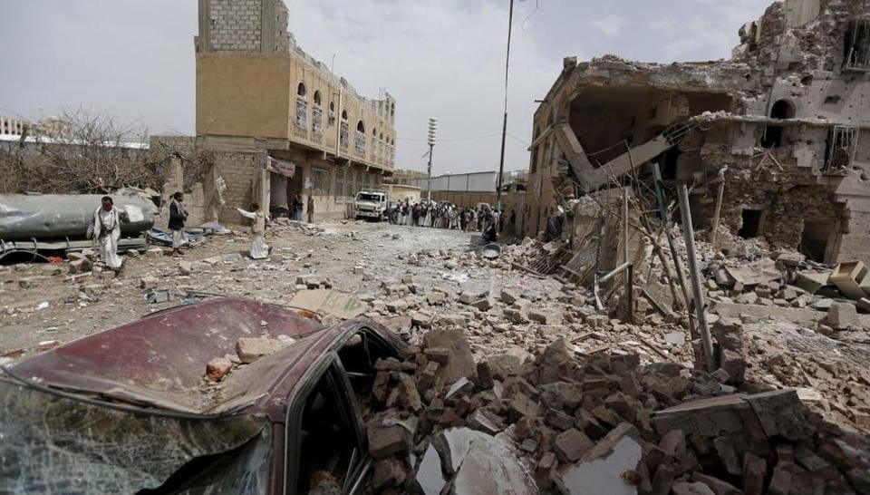 A suspected raid by the Saudi-led coalition intervening in Yemen killed 23 civilians on Wednesday, including women and children, near the southwestern city of Taez.