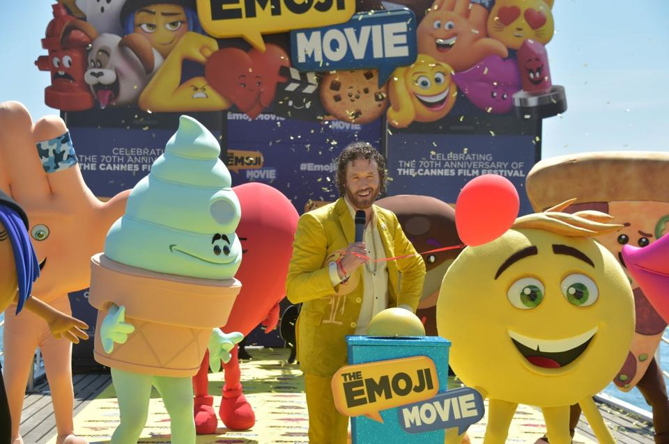 The American actor unveiled the first trailer of the upcoming animation film The Emoji Movie at the Cannes Film Festival.