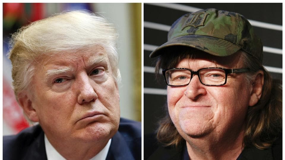 Michael Moore has been a vocal critic of Donald Trump's presidency and the Republican party.