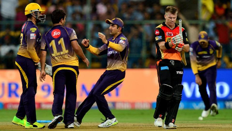 Kolkata Knight Riders' (KKR) disciplined bowling saw them restrict Sunrisers Hyderabad (SRH) to 128/7 in their 2017 Indian Premier League (IPL) eliminator.