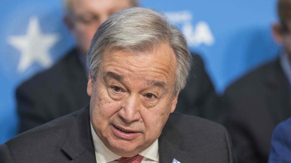 Antonio Guterres,UN Secretary General,India-Pakistan