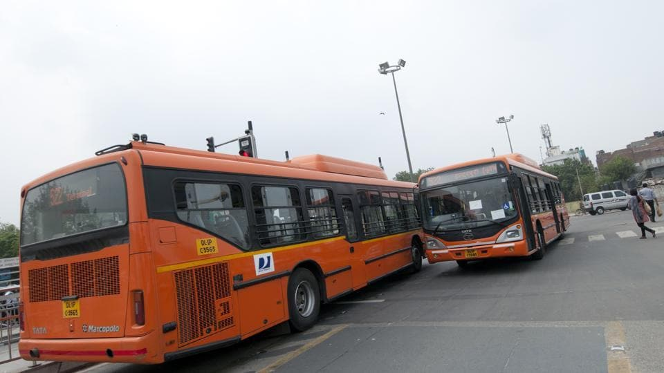 GPS Buses photographed on 27 June 2011 by Ramesh Pathania/ Mint.