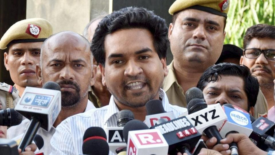 Image result for Sacked Delhi minister Kapil Mishra making more allegations against Delhi CM Arvind Kejriwal