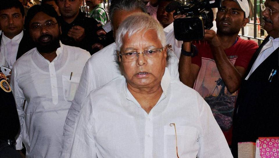 RJD supremo and former Bihar CM Lalu Prasad Yadav appearing in a CBI court in Ranchi in a case related to fodder scam on May 8 .