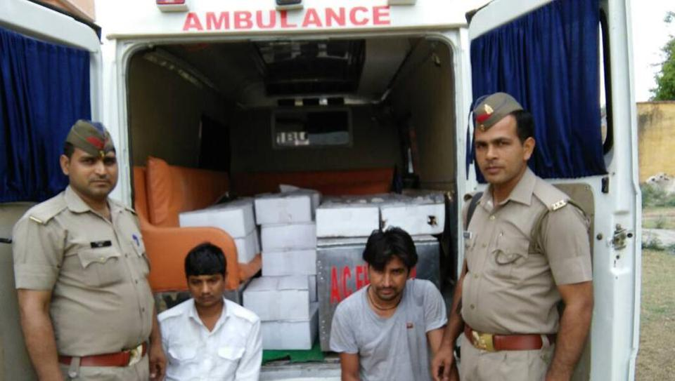 The two men had modified an old Tempo Traveller to look like a multispecialty ambulance.