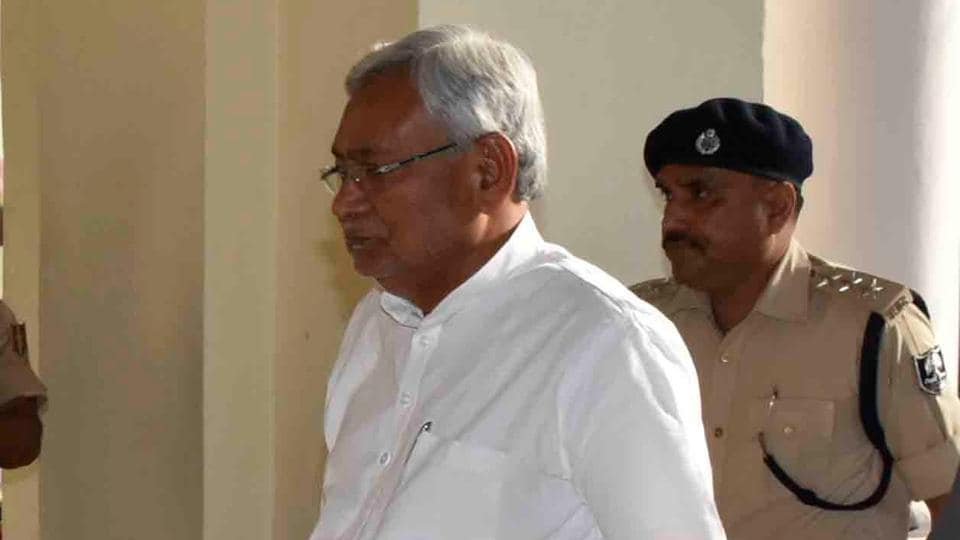Bihar chief minister Nitish Kumar going to attend cabinet meeting in Patna on Tuesday.