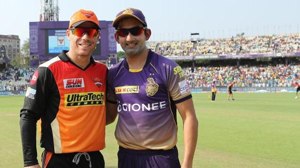 Sunrisers Hyderabad, led by David Warner, will face Gautam Gambhir-captained Kolkata Knight Riders in Indian Premier League (IPL) 2017 Eliminator.