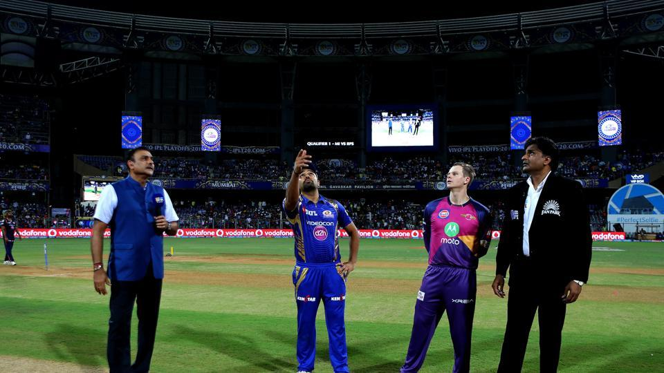 Mumbai Indians won the toss and chose to bowl against Rising Pune Supergiant in Qualifier 1 of IPL 2017. (BCCI)