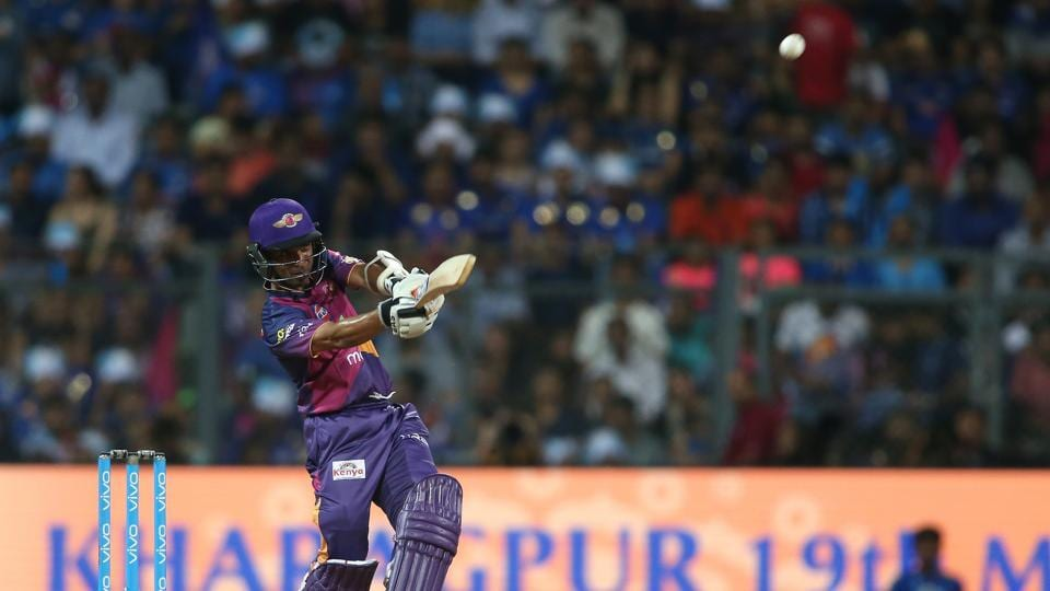 Ajinkya Rahane  steadied the ship along with Manoj Tiwary as RPS made progress. (BCCI)