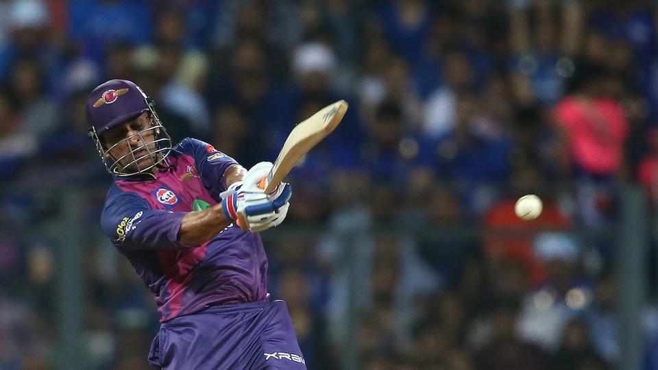 MS Dhoni blasted five sixes and slammed a 26-ball 40 as Rising Pune Supergiant finished on 162/4 in 20 overs. (BCCI)