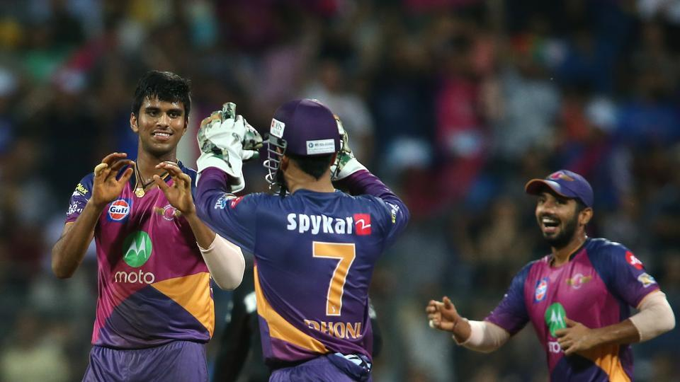 Washington Sundar 's haul of 3/16 was his best in T20s and it put RPS on course for a place in a final. (BCCI)