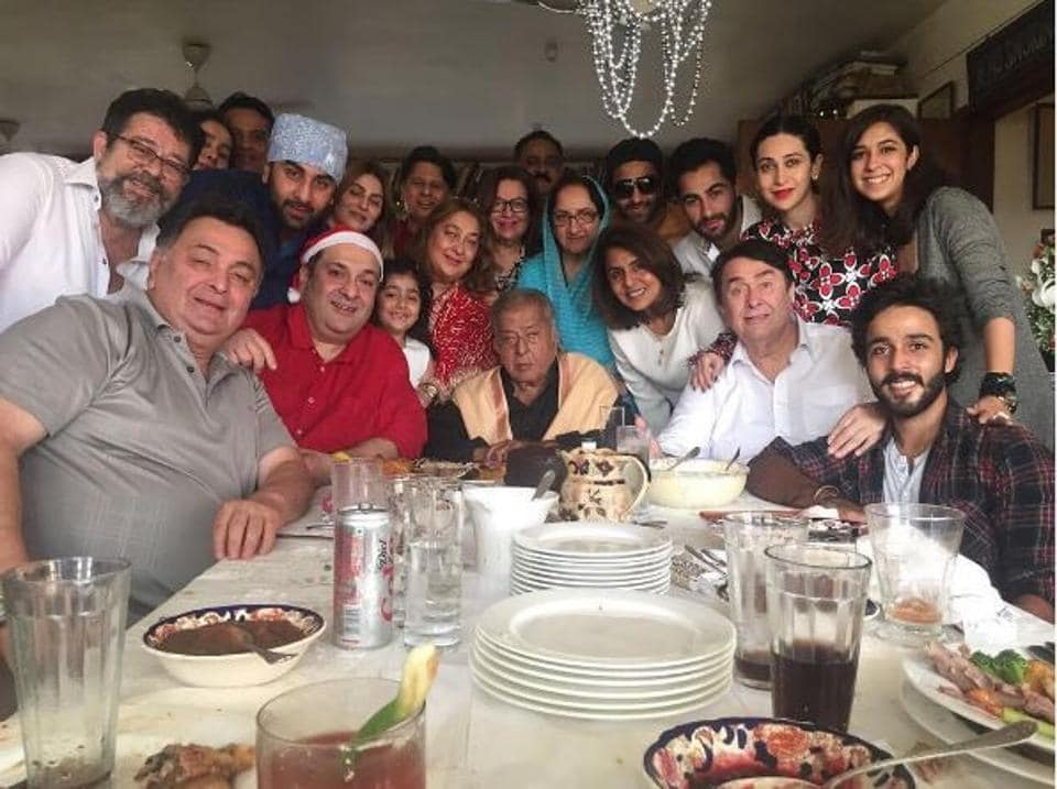 Four generations of Kapoor family dinning together.