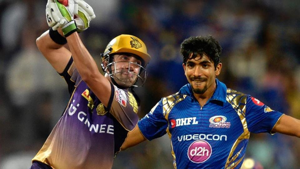 Gautam Gambhir (L) has been in superb form in IPL 2017, and his duel with Jasprit Bumrah in Friday's Qualifier 2 could be key in how the match shapes up.