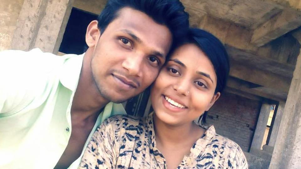 The couple from Nallasopara got married last month.