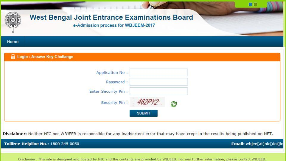 The West Bengal Joint Entrance Examinations Board (WBJEEB) on Thursday released the answer keys of WBJEE-2017.