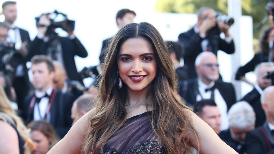 Deepika Padukone wore a Marchesa gown for the Cannes red carpet.