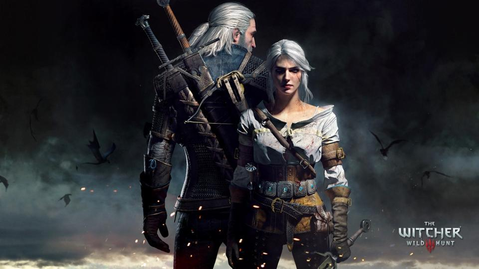 A poster from The Witcher gaming series.