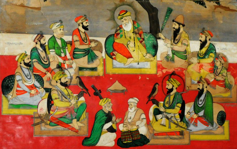 'Guru Nanak and the nine other Sikh gurus' at Government Museum, Sector 10, Chandigarh. (Anil Dayal/HT)