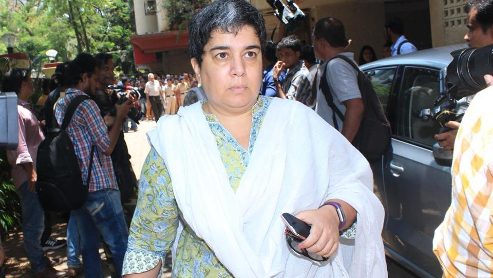 Aamir Khan's ex-wife Reena Dutta also attended the funeral. (Photo: Prodip Guha/HT)