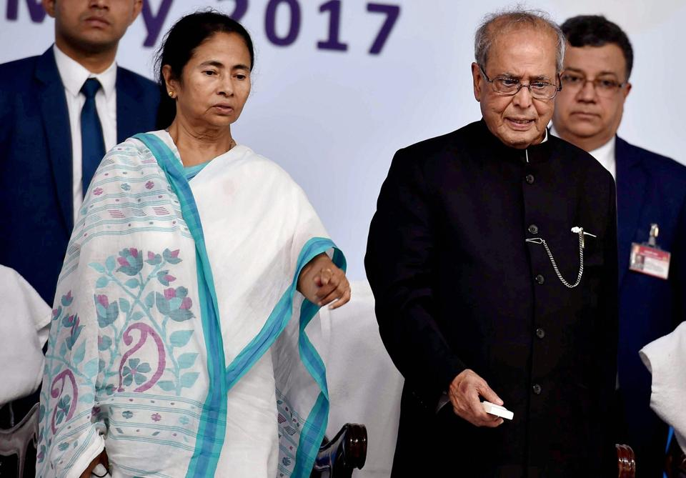 West Bengal chief minister Mamata Banerjee says she will be happy if President Pranab Mukherjee gets another term in office.