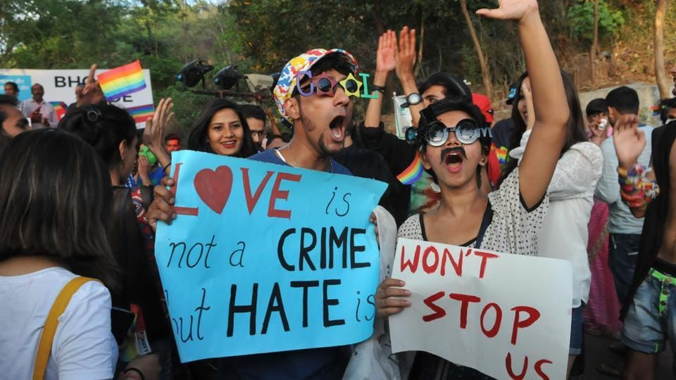 Started in 2005, the International Day to end Homophobia was intended to bring world wide  attention to the issues related to gender bias.  (Mujeeb Faruqui/HT Photo)