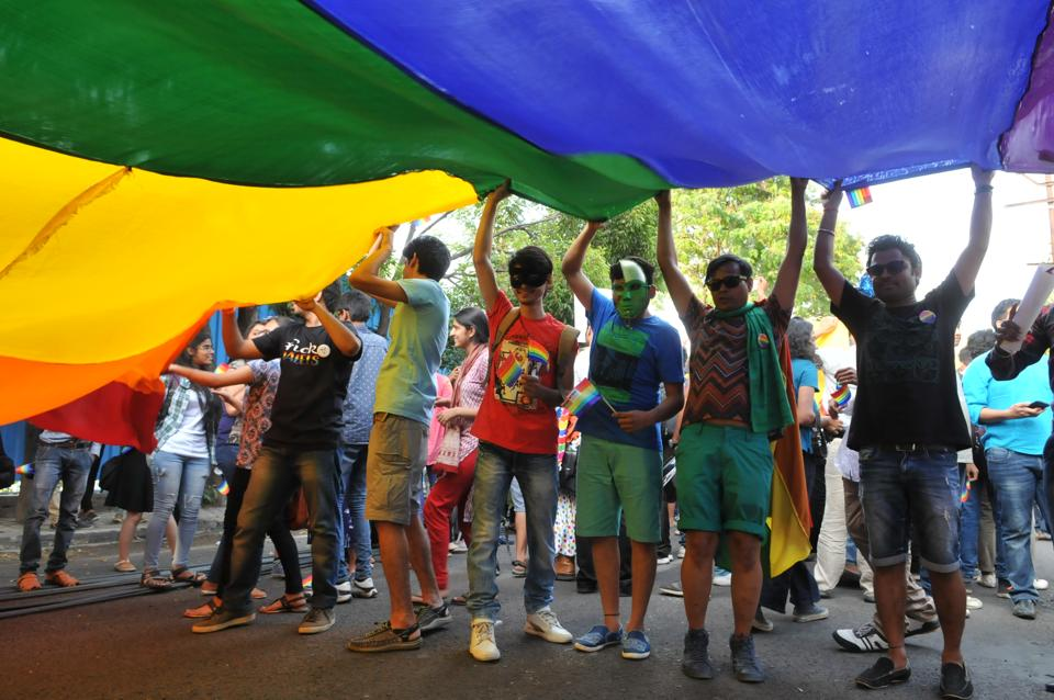 Central India`s first pride parade, in  Bhopal,  May 17, to mark the International day against Homophobia and Transphobia .  While a portion of India is still opposed to homosexuality and are in favour of its criminalisation, there are progressive pockets that fight to allow members of the LGBT community to be accepted and respected members of society.