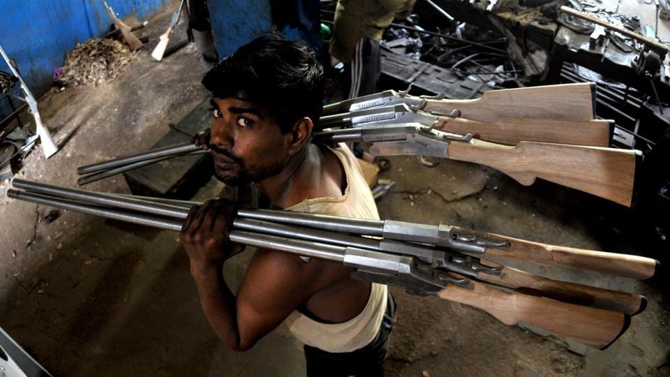 Before a weapon is sold in the market, it undergoes rigorous tests with the barrels being sent to ordinance factories in Jabalpur and Kanpur for inspection. (Nitin Kanotra/HT Photo)