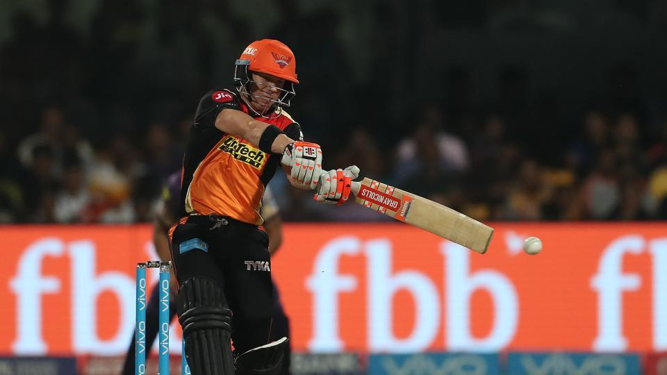 David Warner top-scored for SRH with 37, as the team struggled against a disciplined bowling line-up. (BCCI)