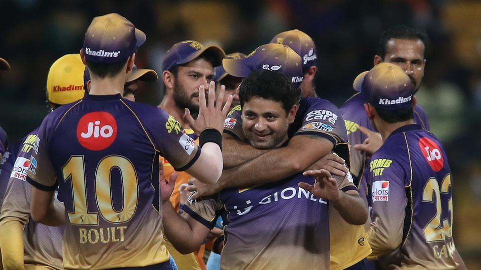 KKR's disciplined bowling eventually saw them restrict SRH to 128/7 in the 20 overs. (BCCI)