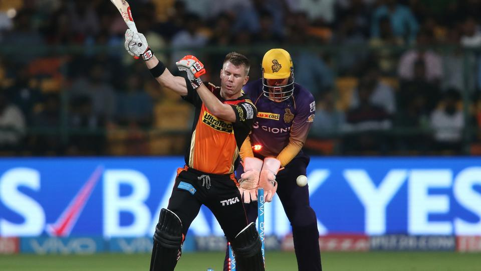 Sunrisers Hyderabad struggled on a difficult pitch in Bangalore as they lost to Kolkata Knight Riders in the Eliminator clash of IPL 2017.