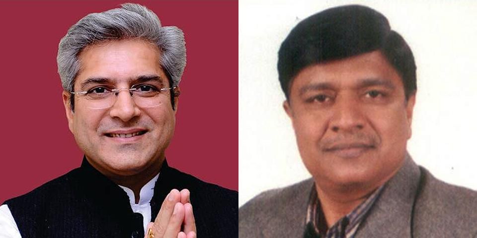 Kailash Gahlot (left) is an AAP MLA from Najafgarh constituency in southwest Delhi. Rajendra Pal Gautam, MLA from Seemapuri, a reserved constituency is a practising lawyer.