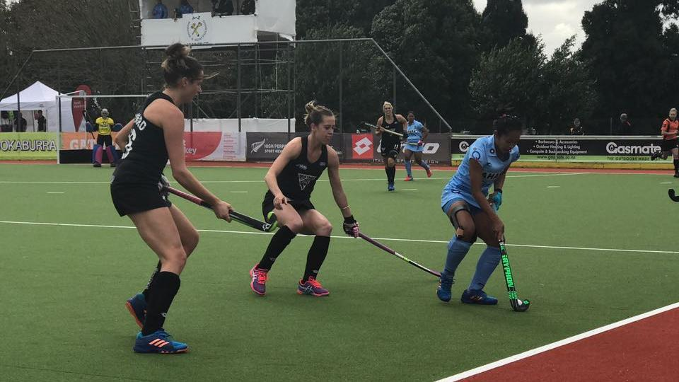 The Indian women's hockey team lost their fourth match on the trot to New Zealand.