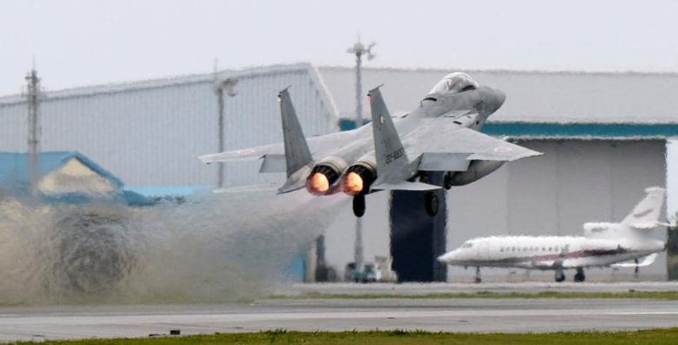 Japan sent two F-15 fighter jets, one E-2C early warning aircraft and an AWACS surveillance plane to the scene.