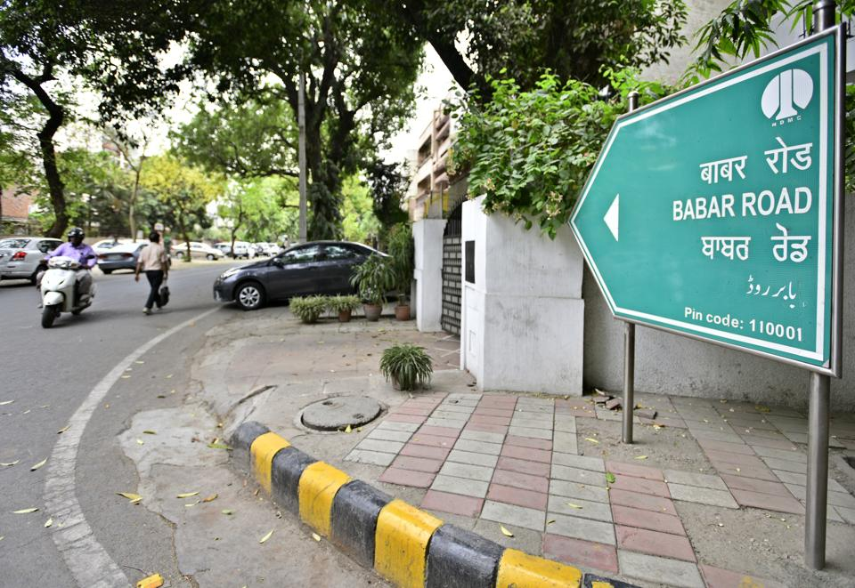 Babar Road in New Delhi.