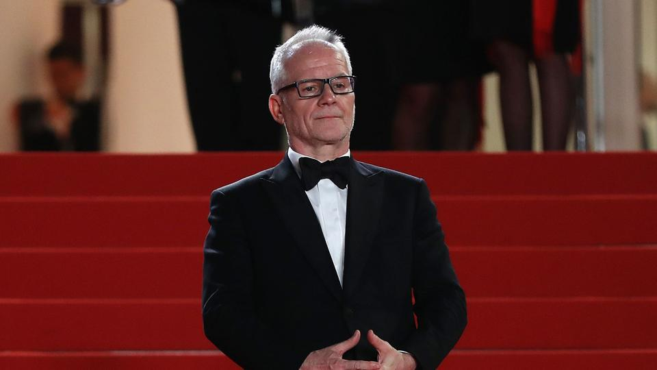 The General Delegate of the Cannes Film Festival, Thierry Fremaux, waits on May 18, 2017 for guests to arrive for the screening of the film 'Blade of the Immortal' (Mugen no Junin) at the 70th edition of the Cannes Film Festival in Cannes, southern France.