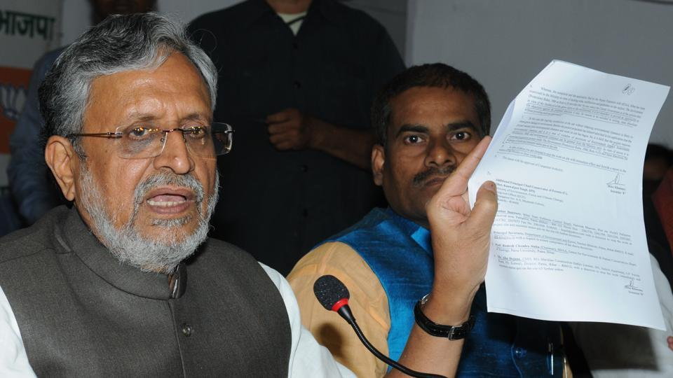 Lalu Prasad,Sushil Modi,Tejashwi Yadav