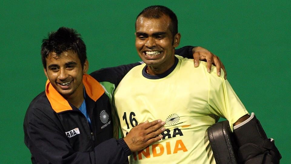 Manpreet Singh (left) will lead India in the Hockey World League semifinals after PRSreejesh was ruled out due to a knee injury.