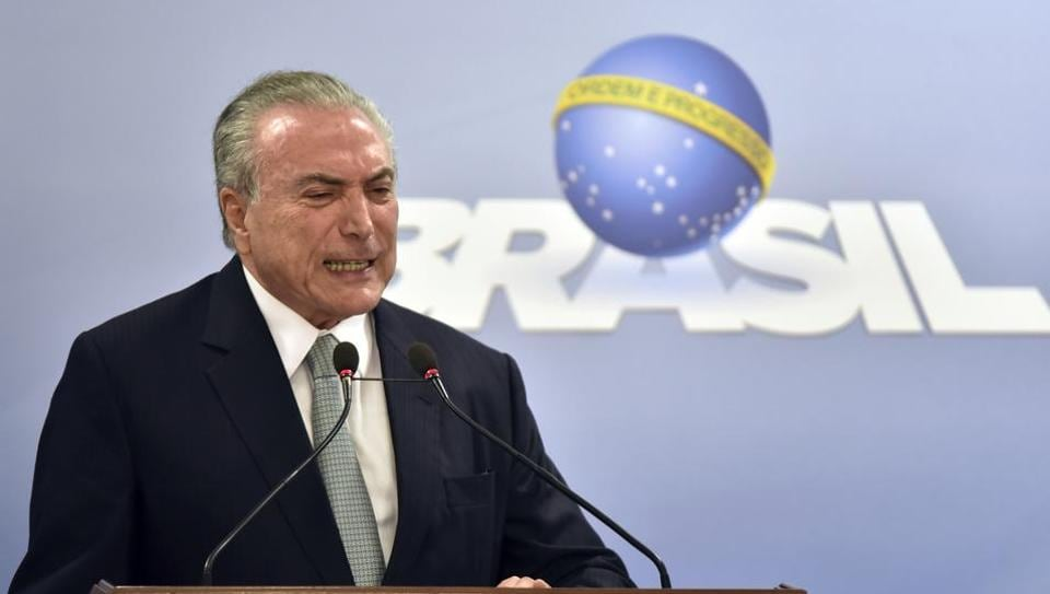 Brazil's President Michel Temer says he will fight allegations that he endorsed the paying of hush money to an ex-lawmaker.